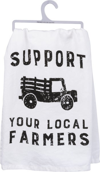Support Local Farmers Dish Towel