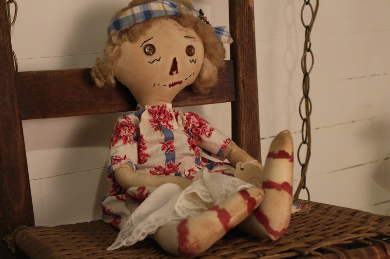Doll with Hankie and Wool Hair