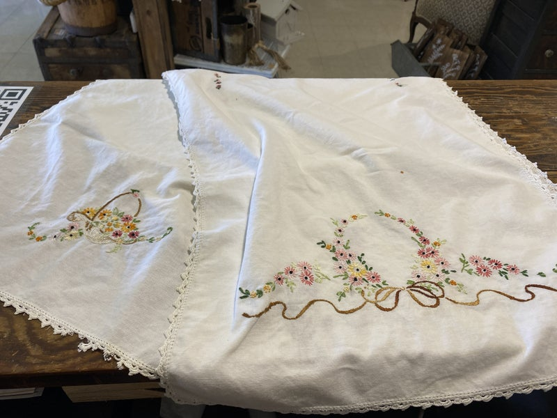 Embroidered Runner (some stains)