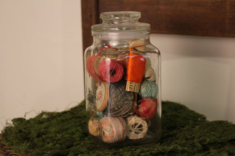 Square Jar with Thread
