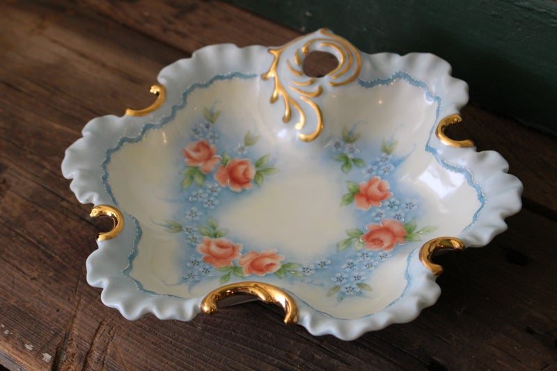 Creamer and Plate Hand Painted China