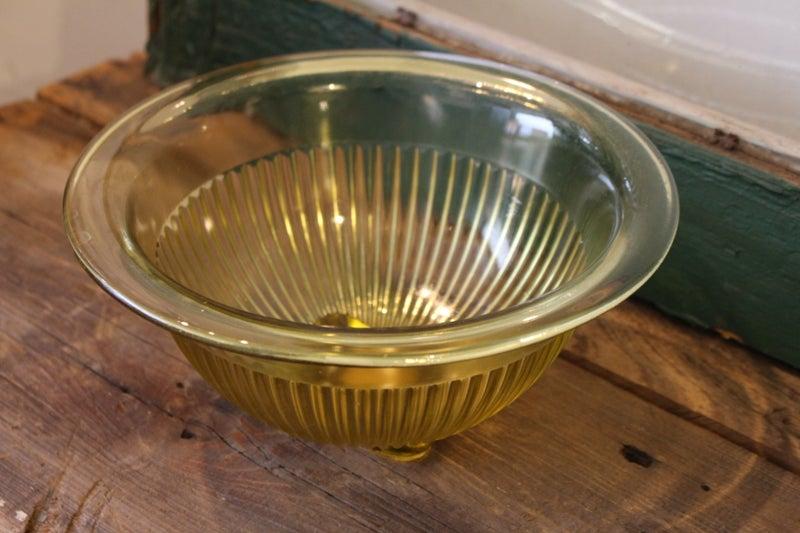 Yellow Depression Glass Bowl