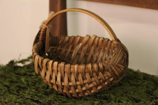 Mini Woven Egg Basket