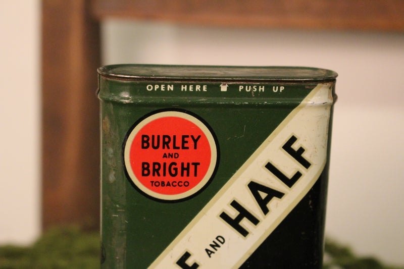Burley and Bright Tobacco Can