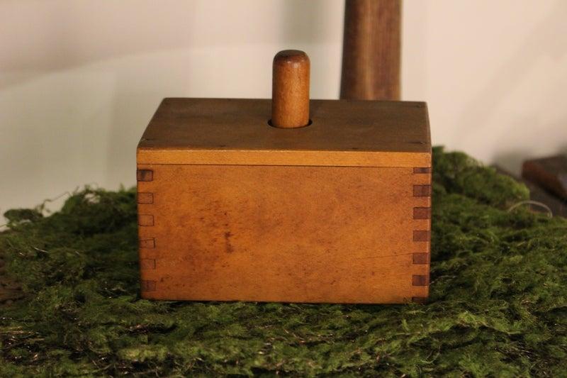 Antique Maple Wood 1lb. Butter Mold