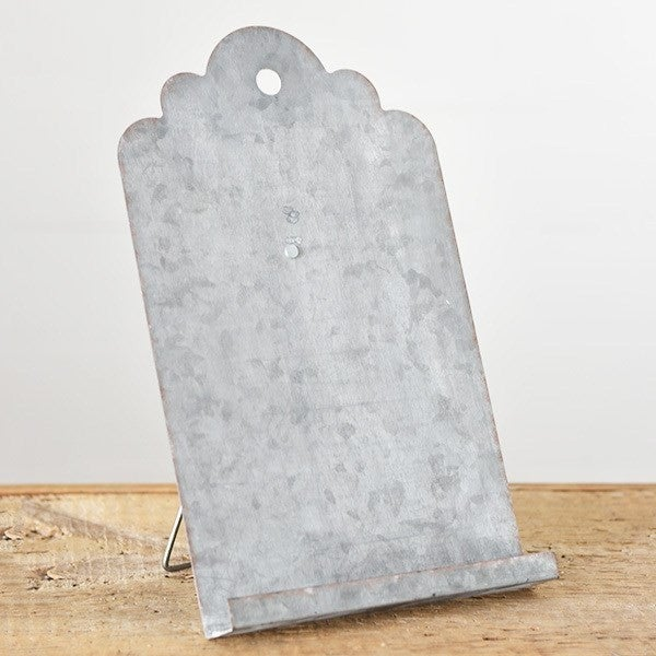Distressed Tin Easel