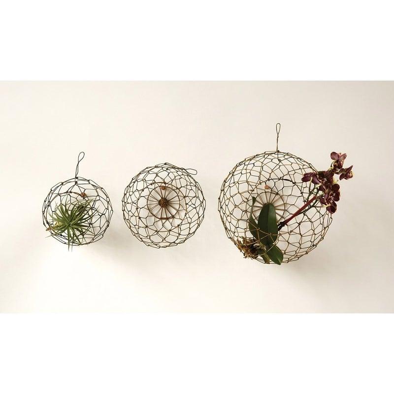 Round Wire Hanging Baskets, 3 Sizes