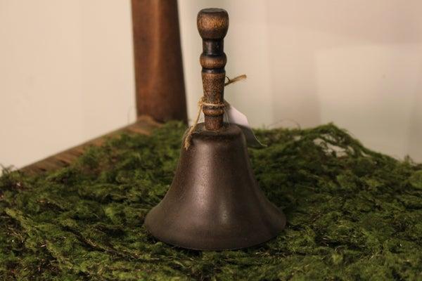 """Antique 5 1/2"""" Teacher's Hand School Bell"""