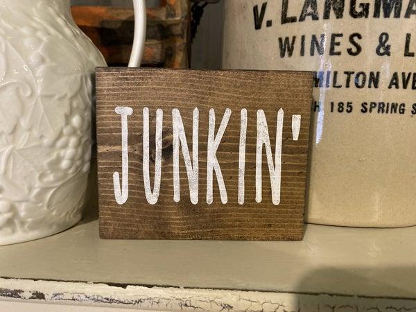 Mini Junkin sign