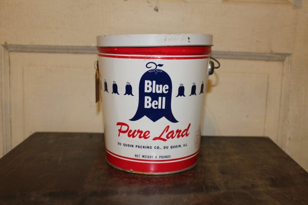 Blue Bell Lard Tin