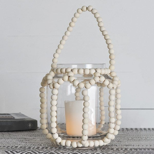 Beaded Glass Lantern