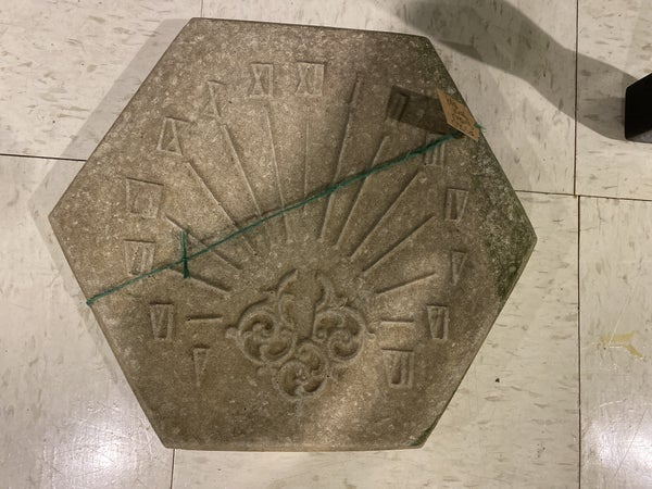 Sundial Garden Stone
