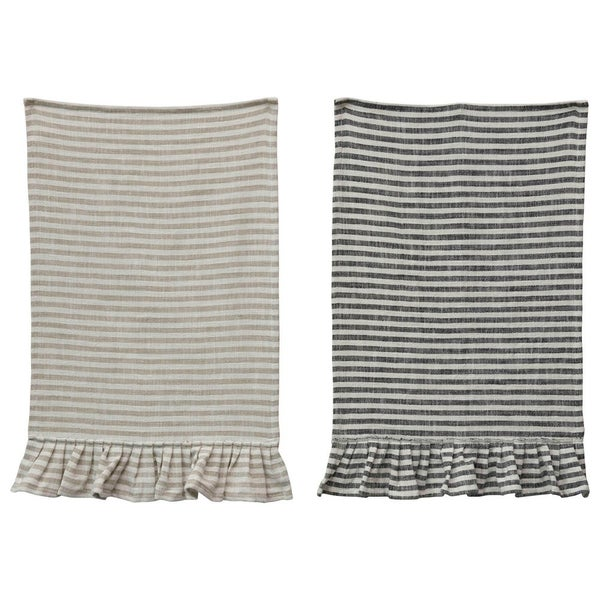 Cotton Striped Tea Towel