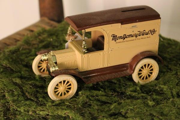 Vintage Montgomery Ward Ertl 1917 Ford Van Bank