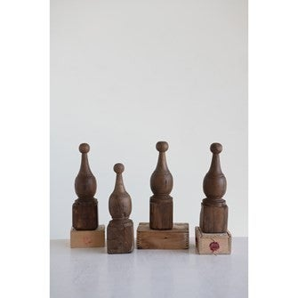 Hand-Carved Wood Finial