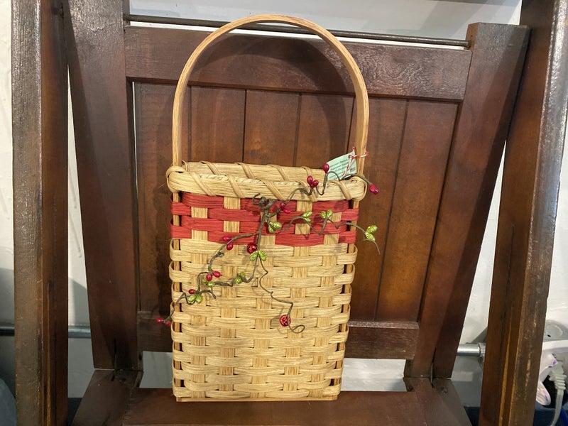 Handcrafted Christmas Door Basket