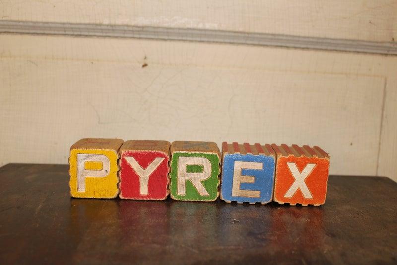 Child's Wood Blocks- Pyrex