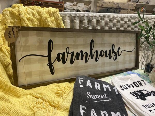 Farmhouse Sign by Simply Eden Acre