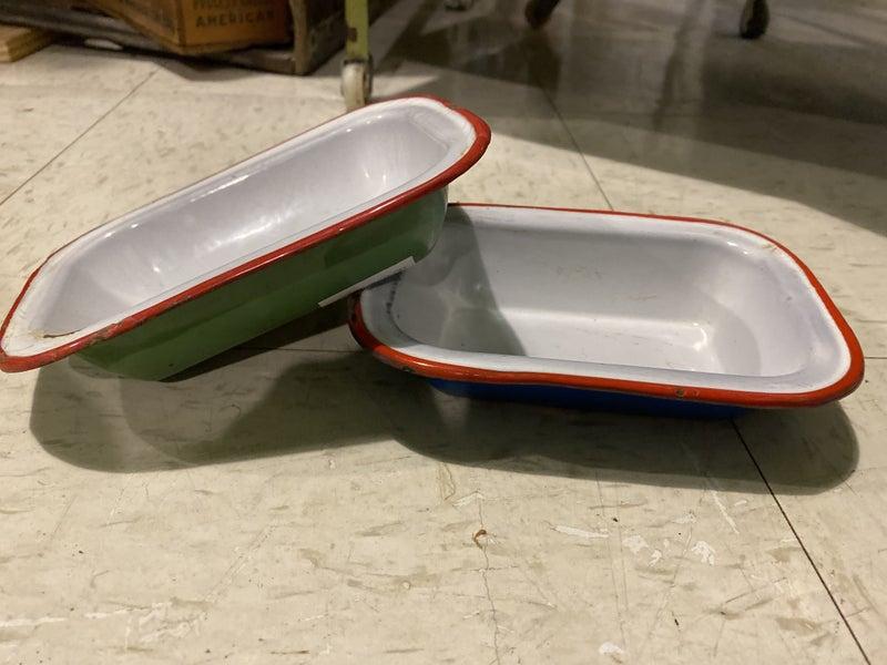 Small rectangle enamel dish