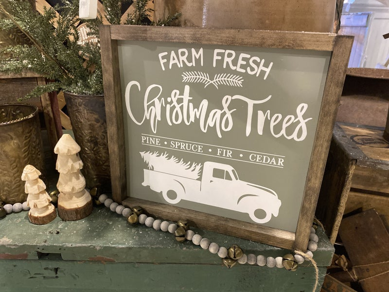 Christmas Trees Sign by Eden Acre