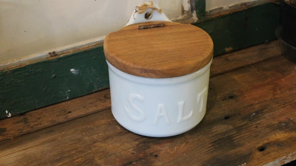 Salt Container with Restored Lid