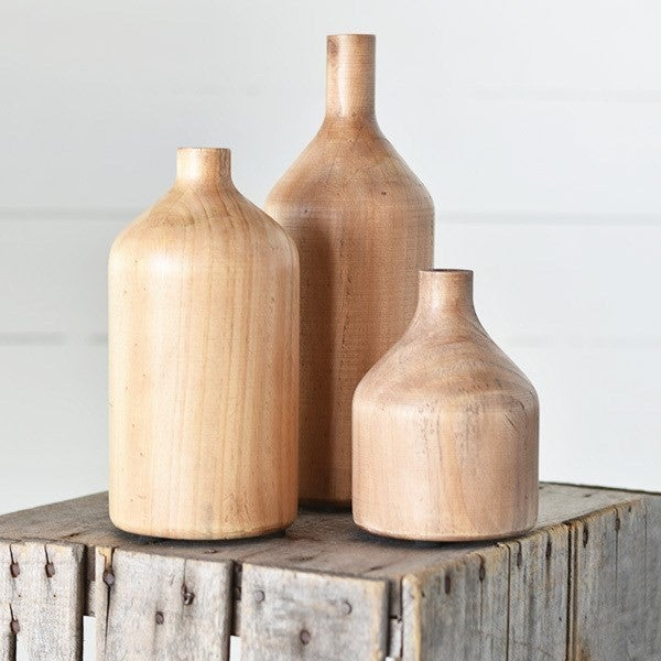 Large Wood Bottle