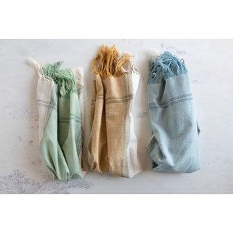 Cotton Tea Towels with Fringe