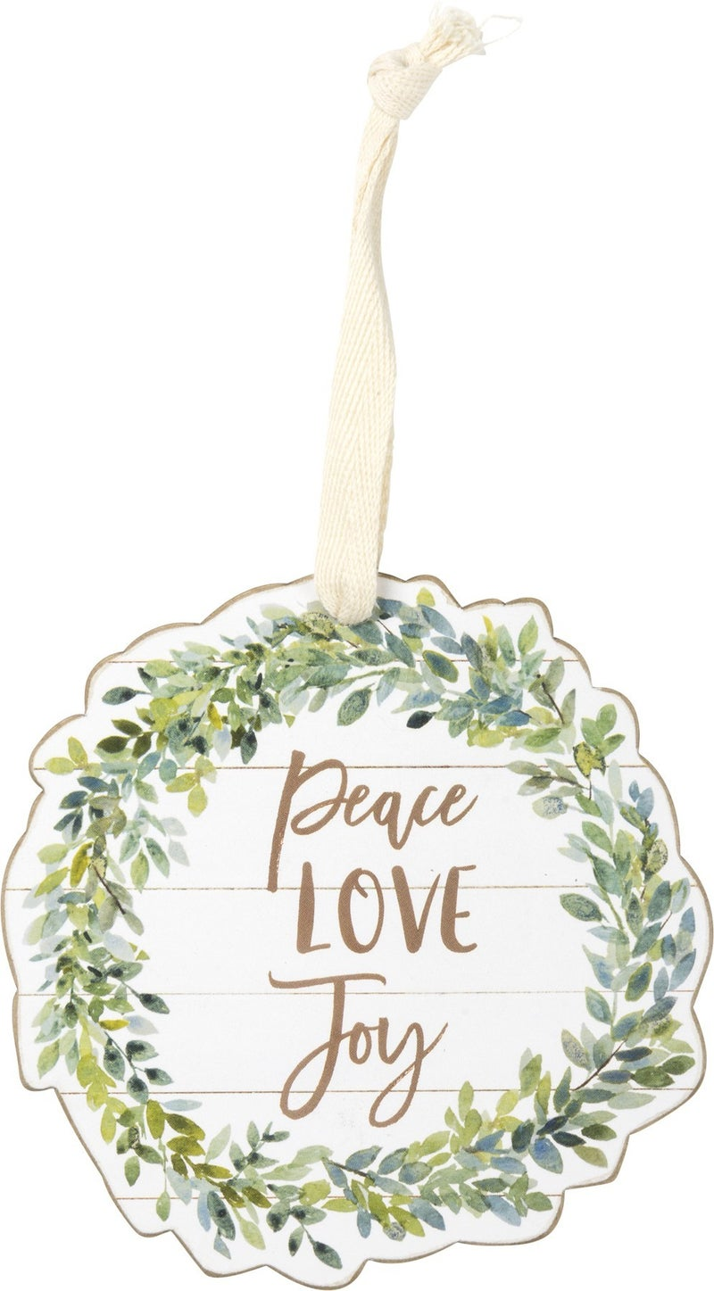 Peace, Love, Joy Ornament