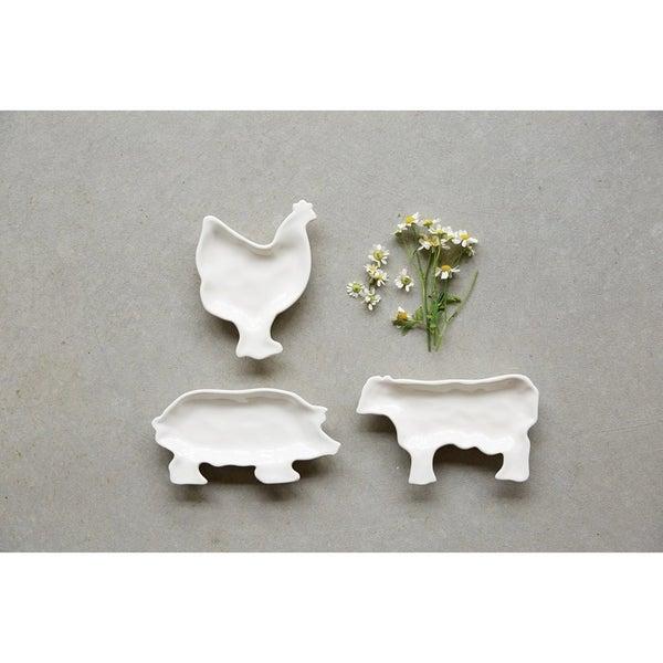 Farm Animal Ceramic Dish