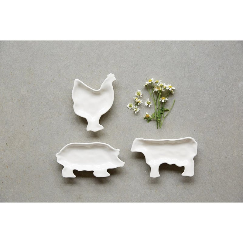Farm Animal Ceramic Dish