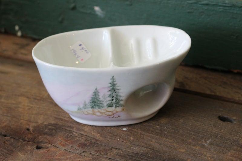 Soap/Shaving dish Hand Painted China