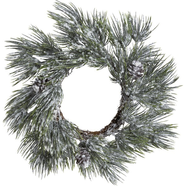 Flocked Spruce Wreath