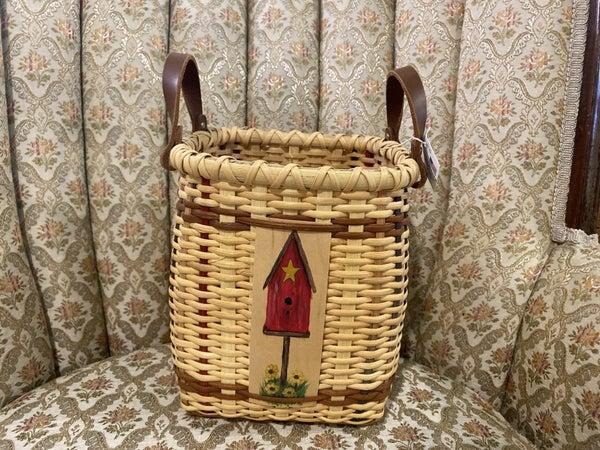 Handcrafted Birdhouse Basket