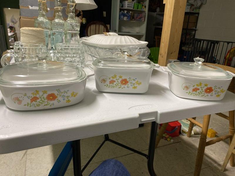 Corning Ware Wildflower Dishes