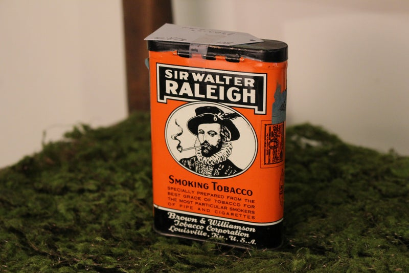 Sir Walter Raleigh Tobacco Can