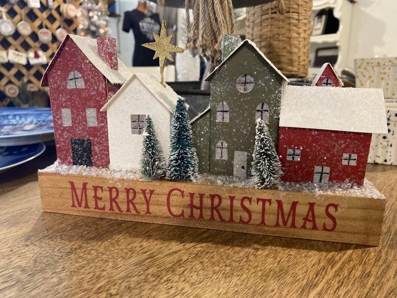 Merry Christmas Light Up Village