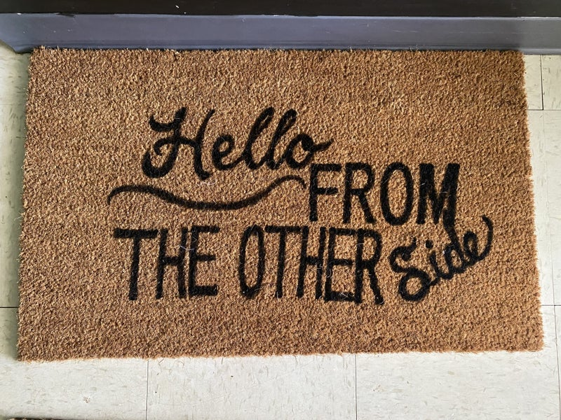 Hand painted welcome mat