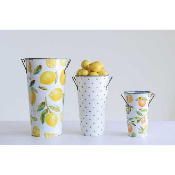 Large Lemon Print Bucket