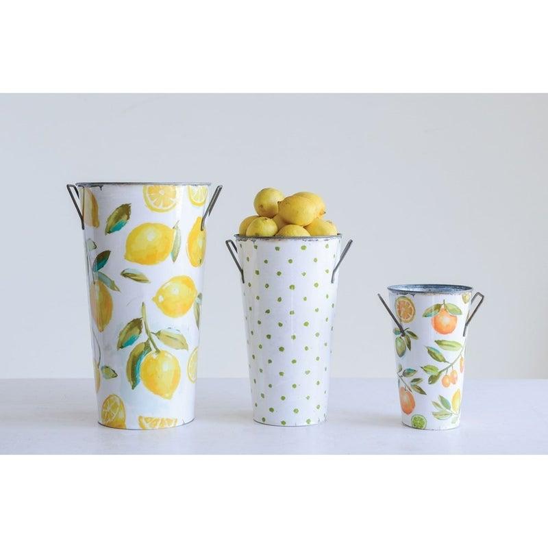 Large Lemon Print Bucket