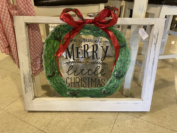 "Hand Painted ""Have Yourself a Merry Little Christmas"" window"