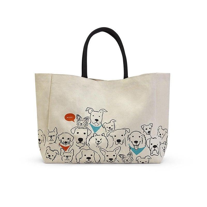 "Dog Crew Tote Bag  14"" H x 18"" W x 6"" D"