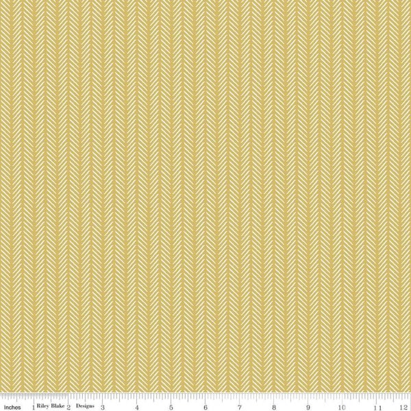 Riley Blake  Gingham Foundry Stripe Honey - 1 Yard