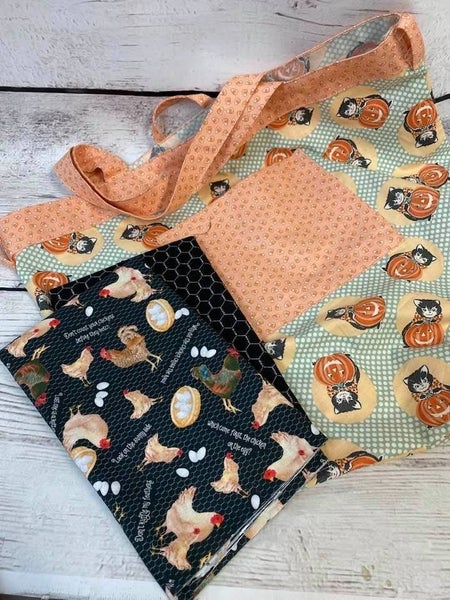 Kit: Simple Sack Rooster Black - need pattern