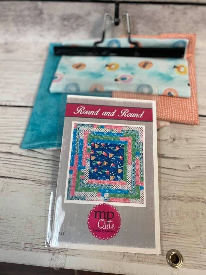 Kit:  Round and Round Pastels includes pattern