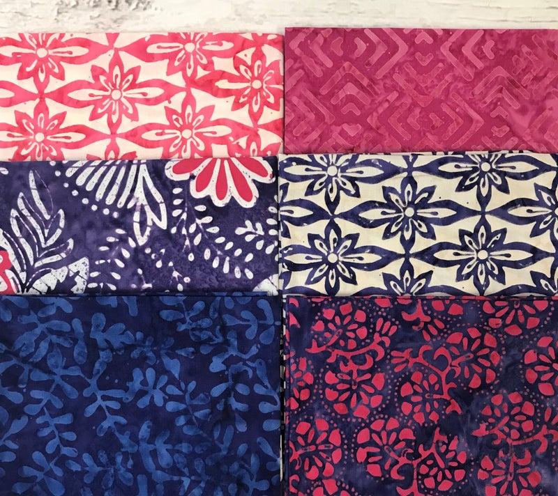 Fat Quarter Bundle (6) Beautiful Batik