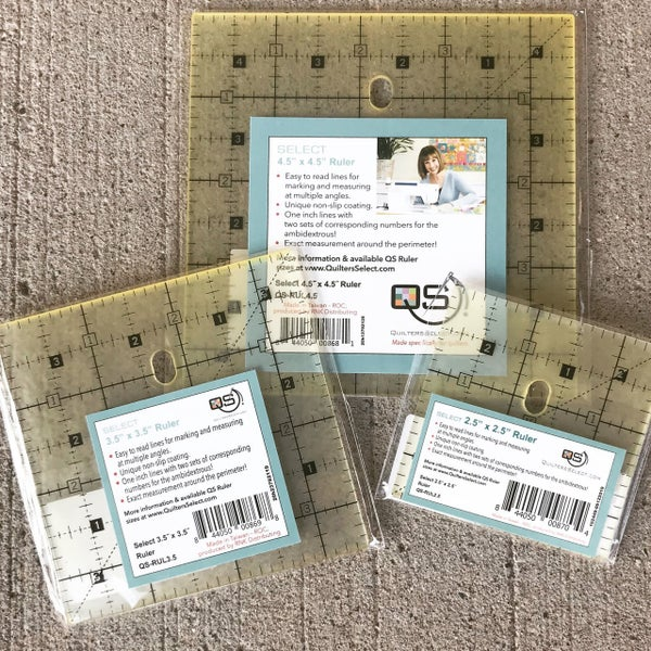 """Quilters Select Ruler Bundle:  2.5, 3.5 & 4.5"""" Square"""