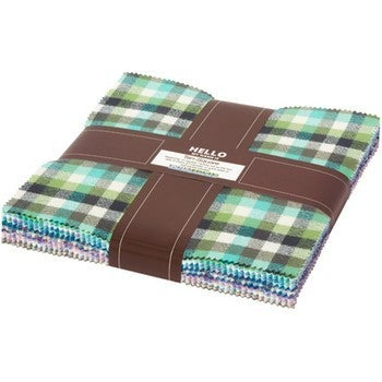 Mammoth Flannel Ten Squares Cool Color Story