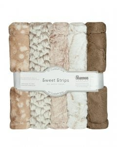 """Five Pack 10"""" Luxe Cuddle Strips Desert"""