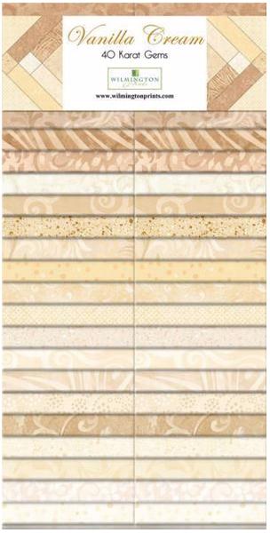"""Essential Gems (40) 2 1/2"""" Strips Vanilla Cream"""