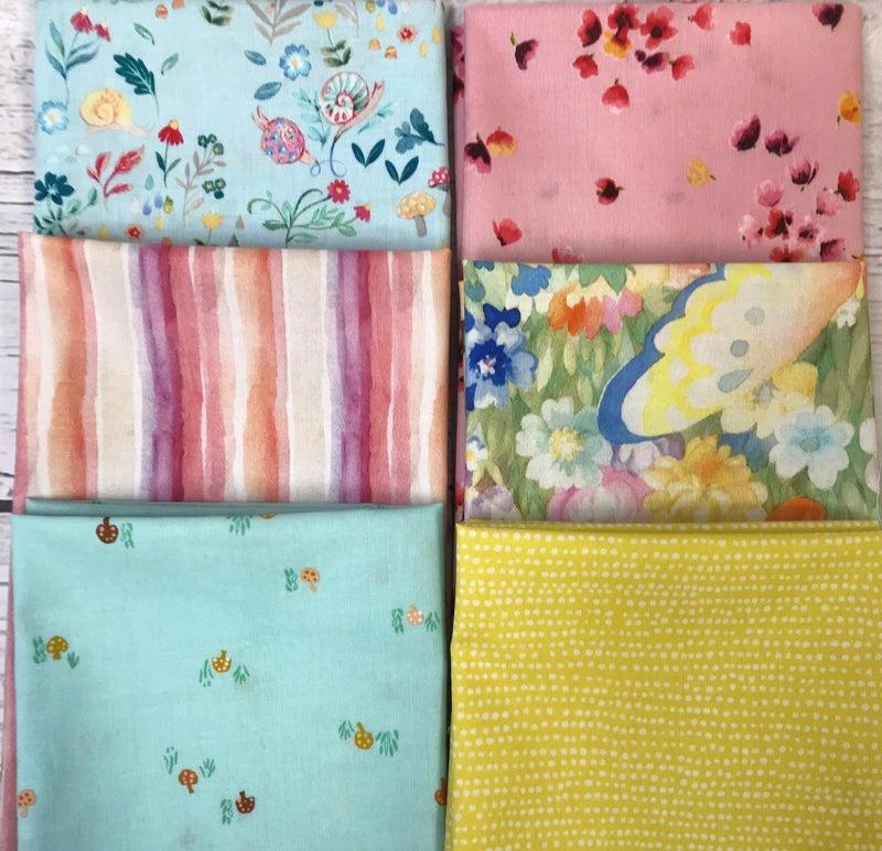 Fat Quarter Bundle (6) Pastel Floral